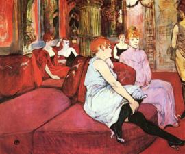 Toulouse-Lautrec, Salon in de Rue des Moulins