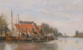Corot, Huisjes aan een kanaal bij Rotterdam