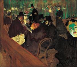 Toulouse-Lautrec, Zelfportret in de Moulin Rouge