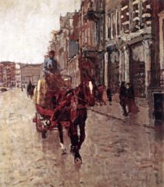 Breitner, Een paardenkar op het Rokin