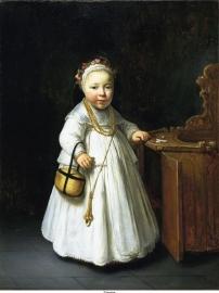 Flinck, Meisje bij een kinderstoel