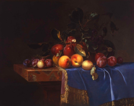 Van Aelst, Fruit stilleven met een slak