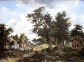 Hobbema, Boslandschap met reizigers