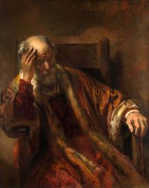 Rembrandt, Oude man in leunstoel