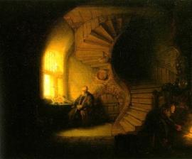 Rembrandt, Mediterende filosoof