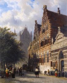 Springer, De Kerkgracht in Leiden
