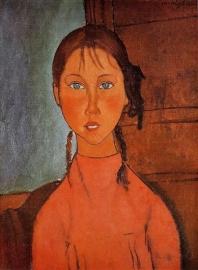 Modigliani, Meisje met vlechten