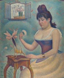 Seurat, Vrouw met een poederkwast