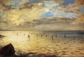 Delacroix,  De zee vanaf de heuvels van Dieppe