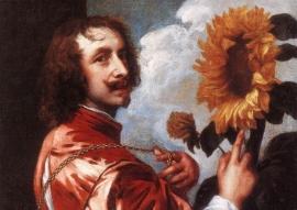 Van Dyck, Zelfportret met zonnebloem