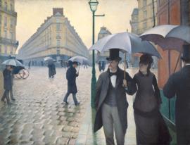 Caillebotte, Regendag in een Parijse straat