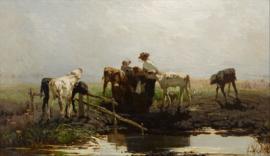 W. Maris, Kalveren bij een trog