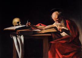Caravaggio, Heilige Hieronymus schrijvend