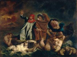 Delacroix, De bark van Dante