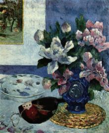 Gauguin, Stilleven met pioenen en mandoline