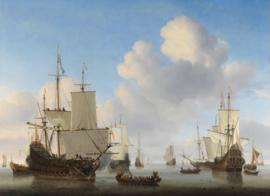 Van de Velde, Hollandse schepen op een kalme zee