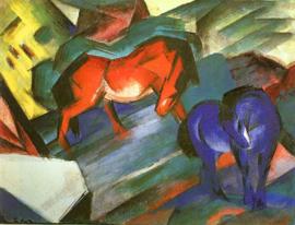 Marc, Rode en blauwe paarden