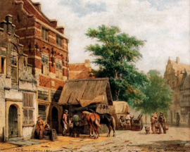 Springer, Zicht op een straat in Culemborg
