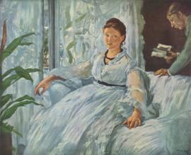 Manet, Het lezen