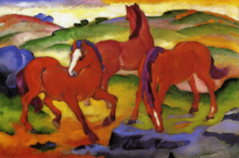 Marc, De rode paarden
