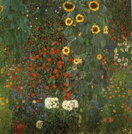 Klimt, Bostuin met zonnebloemen