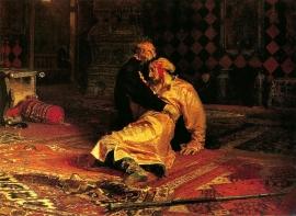 Repin, Iwan de Verschrikkelijke bij het lijk van zijn zoon