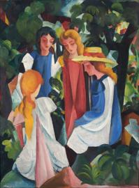 Macke, Vier meisjes