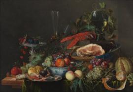 De Heem, Stilleven met ham, kreeft en vruchten