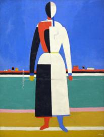 Malevich, Vrouw met een hark