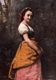 Corot, Jonge vrouw in het bos