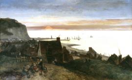 Jongkind, Saint Valery en Caux, zonsondergang