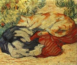 Marc, Katten op een rood kleed
