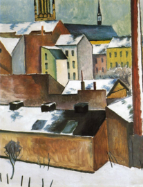 Macke, St. Mary in de sneeuw