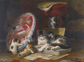 Ronner-Knip, Kittens met een parasol