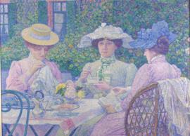 Van Rysselberghe, Thee-uurtje in de tuin