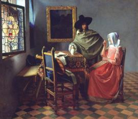 Vermeer, Het glas wijn