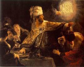 Rembrandt, Het feest van Belshazzar
