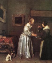 Ter Borch, Vrouw die haar handen wast