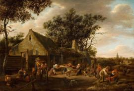 Steen, Dansende boeren bij een herberg
