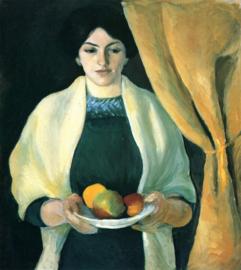 Macke, Portret met appels