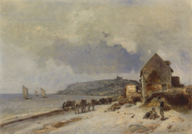 Jongkind, Het strand van Ste. Andresse