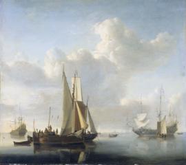 Van de Velde, Schepen voor de kust