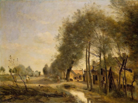 Corot, Straat in Sin le Noble