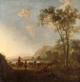 Cuyp, Landschap met herders en vee