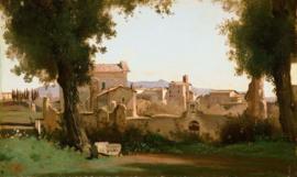 Corot, Gezicht vanaf de Farnese tuinen in Rome