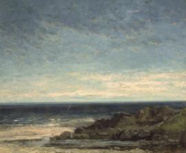 Courbet, Zeekust in Normandië