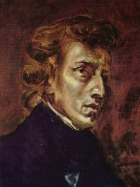 Delacroix, Portret van Frederic Chopin