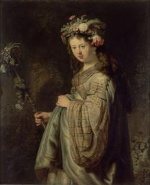 Rembrandt, Portret van Saskia als Flora