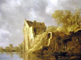 Van Goyen, Rivierlandschap met een ruïne