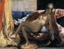 Delacroix, Vrouw met een papagaai